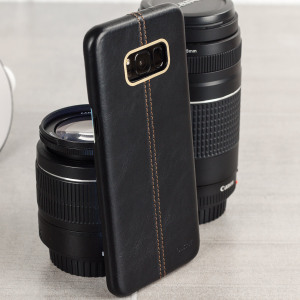 Made from premium Italian Tuscan leather, this exquisite black case from Olixar for the Samsung Galaxy S8 Plus provides stunning style and prestigious protection for your phone in a slim and sleek package.