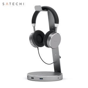 Support casque audio intelligent Satechi – 3 ports USB, port Aux 3.5mm