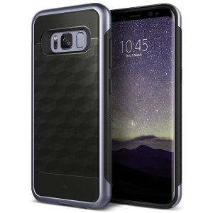 Protect your Samsung Galaxy S8 Plus with this stunning premium dual-layered shell case in orchid grey. Made with tough dual-layered yet slim material, this hardshell body with a sleek metallic bumper features an attractive two-tone finish.