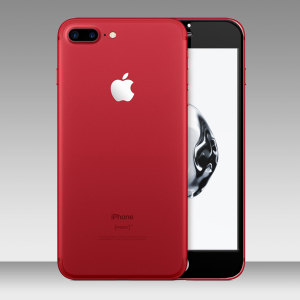 The all new red iPhone 7 Plus is beautiful but only comes with a white fascia. Make it cool and unique and turn the white fascia black while protecting the screen at the same time with this Olixar full cover tempered glass screen protector.