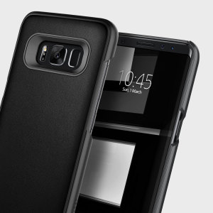 Made from dual layers of rugged TPU and tough polycarbonate with bonded premium textured layers and featuring a stunning leather-effect design, the Fairmont Series tough case in black keeps your Samsung Galaxy S8 Plus safe, slim and stylish.