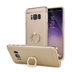 Custom made for the Samsung Galaxy S8, this gold XRing case from Olixar provides excellent protection and a handy finger loop to keep your phone in your hand, whether from accidental drops or attempted theft.