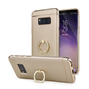 Custom made for the Samsung Galaxy S8 Plus, this gold XRing case from Olixar provides excellent protection and a handy finger loop to keep your phone in your hand, whether from accidental drops or attempted theft.