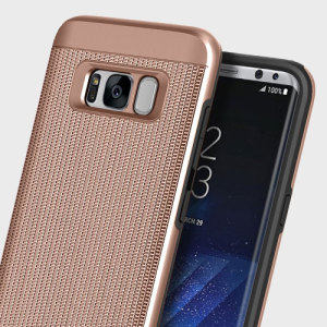 Protect your Samsung Galaxy S8 with this ultra slim chainmail-style case in rose gold which protects as well as providing a stunning full body protection in an attractive dual design.