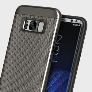 Protect your Samsung Galaxy S8 with this ultra slim chainmail-style case in gun metal which protects as well as providing a stunning full body protection in an attractive dual design.