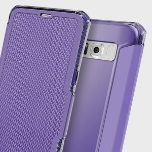 This leather-style case from ITSKINS for Samsung Galaxy S8 in purple sports a stylish, understated textile aesthetic along with air cushion technology for superior drop protection. Also features a card slot for cash, ID or debit / credit cards.