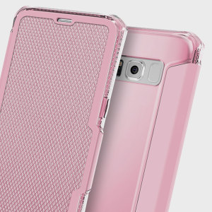This leather-style case from ITSKINS for Samsung Galaxy S8 in light pink sports a stylish, understated textile aesthetic along with air cushion technology for superior drop protection. Also features a card slot for cash, ID or debit / credit cards.