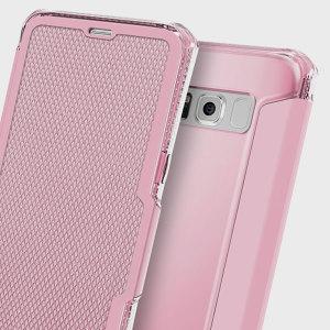 Cette coque en simili cuir de chez ITSKINS sublimera votre Samsung Galaxy S8 tout en le protégeant grâce à sa technologie spécifique dite « Coussins d'Air » prévue pour améliorer sa résistance face aux chutes. Elle intègre également une fente pour carte de crédit, ticket de métro ou autres objets de tailles similaires.