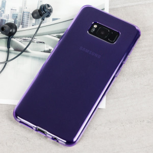 Custom moulded for the Samsung Galaxy S8, this purple FlexiShield case by Olixar provides slim fitting and durable protection against damage.