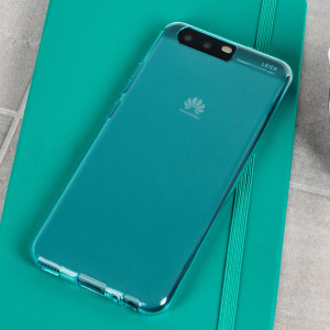 Custom moulded for the Huawei P10, this blue Olixar FlexiShield case provides slim fitting and durable protection against damage.