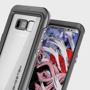 Equip your Samsung Galaxy S8 with the most extreme and durable protection around! The black and clear Ghostek Atomic 3.0 is completely waterproof and provides rugged drop protection with an HD scratch resistant screen protector.
