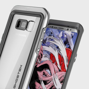Equip your Samsung Galaxy S8 Plus with the most extreme and durable protection around! The silver and clear Ghostek Atomic 3.0 is completely waterproof and provides rugged drop protection with an HD scratch resistant screen protector.