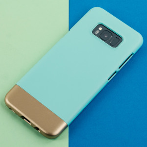This case offers slim-fitting, colourful accents and 2 piece construction for your Samsung Galaxy S8, whilst keeping it well protected. The aqua and gold Accent case from Prodigee is slim, light and suitably attractive.
