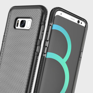 Combining a hard-wearing mesh aesthetic with durable drop protection, this one-piece case from Prodigee in smoke black for Samsung Galaxy S8 Plus maximises protection while minimising unnecessary bulk.