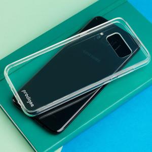 Esta elegante funda para Samsung Galaxy S8 Plus de Prodigee luce una construcción transparente minimalista - perfecto para mostrar las líneas elegantes y el diseño magistral de su dispositivo, mientras proporciona una total protección de la trasera y los laterales