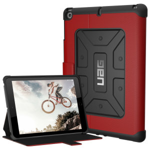 "Equip your iPad 2017 (9.7"") with extreme, military-grade protection and storage for cards with the Metropolis Rugged Wallet case in magma red from UAG. Impact and water resistant, this is the ideal way of protecting your iPad."
