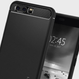 Meet the newly designed rugged armor case for the Huawei P10. Made from flexible, rugged TPU and featuring a mechanical design, including a carbon fibre texture, the rugged armor tough case in black keeps your phone safe and slim.