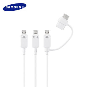This official Samsung 1.3 metre charge and sync cable comes complete with 3 Micro USB tips and a USB-C adapter for compatibility with the vast majority of smartphones. Always be prepared to charge your device or transfer files.