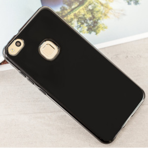 Custom moulded for the Huawei P10 Lite, this solid black FlexiShield case by Olixar provides slim fitting and durable protection against damage.