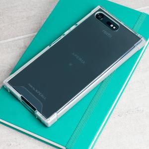 La coque Roxfit Pro Impact en gel a été officiellement certifiée comme étant parfaitement ajustée avec le Sony Xperia XZ Premium. Son dos transparent laisse entrevoir les lignes épurées de votre smartphone tandis que le cadre de type bumper en coloris argent offre une protection idéale en caoutchouc pour votre Sony Xperia XZ Premium.