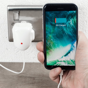 With this 2.4A UK mains charger, you can keep your Lightning compatible device topped up at home, including iPhone, iPad and iPod. The charger is also perfect for travel thanks to a compact size and integrated 1m Lightning cable. MFi certified.