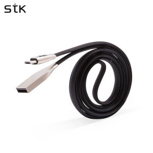 This Micro USB charge and data sync cable from STK features durable, stylish alloy connectors and a unique, tangle-free flat design. Charge and sync your devices in no time at all while complementing the aesthetic of your device with this cable.