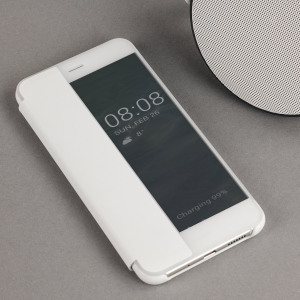 Protect your Huawei P10 Lite's screen and keep to date with the time and notifications thanks to the intuitively designed smart view case in this white official Huawei flip case. Crafted from the finest materials, the case gives a sophisticated feel.