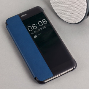 Protect your Huawei P10 Lite's screen and keep to date with the time and notifications thanks to the intuitively designed smart view window in this blue official Huawei flip case. Crafted from the finest materials, the case gives a sophisticated feel.