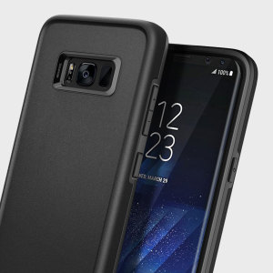 The Obliq Skyline Advance Pro Stand Case in gun metal is an ergonomic protective case for the Samsung Galaxy S8, providing fantastic shock absorption without adding excessive bulk.