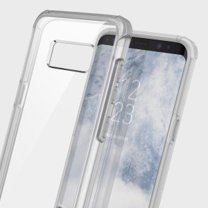 Protect the back and sides of your Samsung Galaxy S8 Plus while preserving the sleek aesthetics with the frost clear Naked Shield bumper case from Obliq.