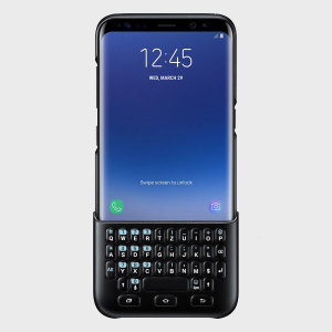 Experience fast and efficient typing with the slim and protective official black QWERTZ keyboard cover from Samsung for the Galaxy S8. With no Bluetooth connection or power required, the keyboard case won't drain your battery or need charging.