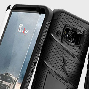 Equip your Samsung Galaxy S8 with military grade protection and superb functionality with the ultra-rugged Bolt case in black from Zizo. Coming complete with a tempered glass screen protector and a handy belt clip / kickstand.