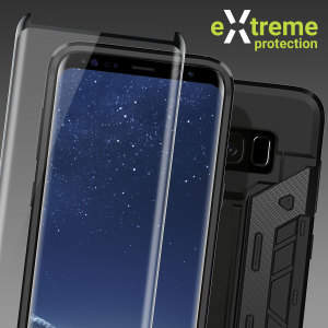 Guard your beautiful Samsung Galaxy S8 Plus from damage with the Olixar Extreme Protection Pack. Featuring a rugged X-Trex case and a case compatible tempered glass screen protector, this pack provides the ultimate in 360 degree protection.