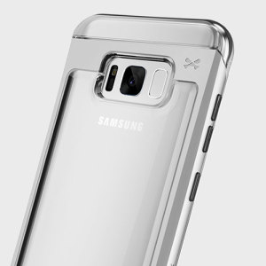 Ghostek Cloak 2 Samsung Galaxy S8 Plus Aluminium Case - Clear / Silver