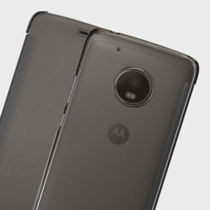 This official flip case in smoke black for Motorola Moto G5 shields your device from knocks, scrapes and scratches while adding virtually no bulk.