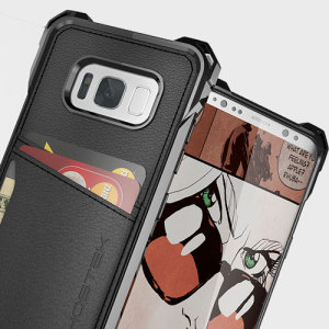 The Exec premium case in black comes complete with a screen protector to provide your Samsung Galaxy S8 Plus with fantastic protection. Also featuring storage slots for your credit cards, ID and cash.
