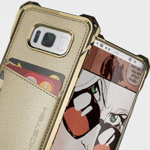 La coque Ghostek Exec Series en coloris or est livrée avec une protection d'écran afin de fournir à votre Samsung Galaxy S8 une protection complète et élégante. Très polyvalente, elle dispose d'emplacements dédiés au rangement de vos cartes ou même de vos billets.