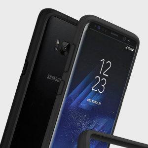 Schützen Sie ihr Samsung Galaxy S8 Plus vor Stürzen, Kratzern und anderen Schäden mit dem CrashGuard Stoßfängergehäuse von RhinoShield. Diese Hülle bietet hervorragenden Schutz und fügt praktisch keine zusätzliche Masse hinzu dank einer stoßdispergierenden sechseckigen Struktur.