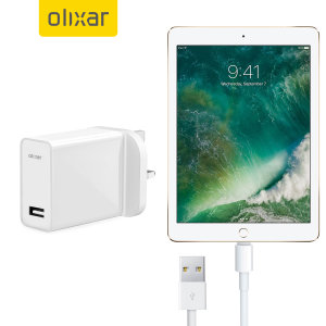 Charge your Apple iPad 2017 quickly and conveniently with this compatible 2.4A high power charging kit. Featuring mains adapter with Lightning connection cable. It's also fully compatible with iOS 9 and later, so no annoying warnings.