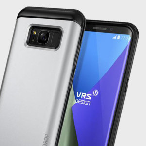 The precisely designed Thor Series case in satin silver from VRS features a unique hybrid PC and TPU design which enhances the form of your Samsung Galaxy S8 Plus without sacrificing function.