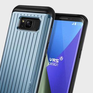 Das präzise gestaltete Thor Waved Gehäuse aus satiniertem Silber von VRS zeichnet sich durch einen einzigartigen Hybrid-PC und TPU-Design aus, der die Form Ihres Samsung Galaxy S8 Plus verbessert, ohne die Funktion zu beeinträchtigen