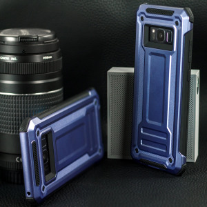 Sturdy, protective and stylish to boot, the dark silver VRS Terra Guard case for Samsung Galaxy S8 Plus is the first and last word in smartphone protection. A reinforced body and shock-absorbing corners shield your device from drops, knocks and scrapes.
