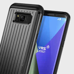 The precisely designed Thor Waved case in dark silver from VRS features a unique hybrid PC and TPU design which enhances the form of your Samsung Galaxy S8 without sacrificing function.