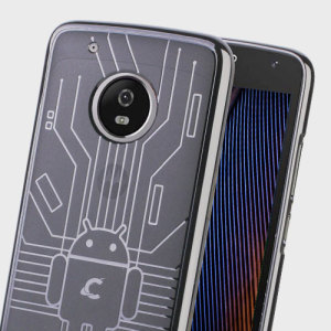 Keep your Motorola Moto G5 Plus protected from damage with this Android-circuitry inspired, durable clear TPU case by Cruzerlite.