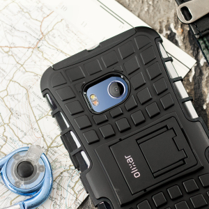 Protect your HTC U11 from bumps and scrapes with this black Olixar ArmourDillo case. Comprised of an inner TPU case and an outer impact-resistant exoskeleton, the ArmourDillo provides robust protection and supreme styling.