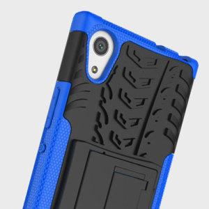 Protégez votre Sony Xperia XA1 Ultra des chocs et des éraflures grâce à cette coque ArmourDillo en coloris bleu. Cette coque est composée d'un boîtier interne en TPU et d'un exosquelette externe résistant aux impacts. Elle comprend par ailleurs un support de visualisation intégré.