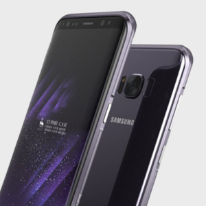 Protect your Samsung Galaxy S8 with this unique orchid grey / purple aluminium bumper. The bumper protects the outer edges and looks great while doing so.