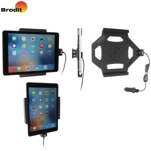 Charge and use your iPad Pro 9.7 / iPad Air 2 in your vehicle with this Brodit active holder with tilt swivel. Conveniently docking your phone, the Brodit Active Holder allows you to use heavy battery consuming apps while you drive.