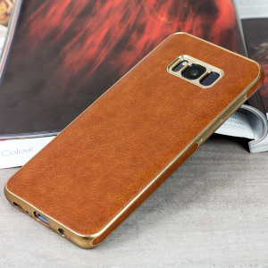 Custom moulded for the Samsung Galaxy S8 Plus, this brown Makamae case from Olixar provides a premium look, while adding excellent protection against damage as well as a slimline fit for added convenience.