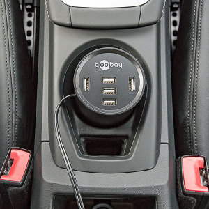 This USB car charger from Goobay features an impressive 5 standard USB ports for charging a range of devices, including smartphones, tablets, sat navs, dash cams and more. A shared 10A capacity ensures an ultra-fast charging speed for your devices.